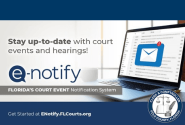 Stay up-to-date with Court Events and Hearings